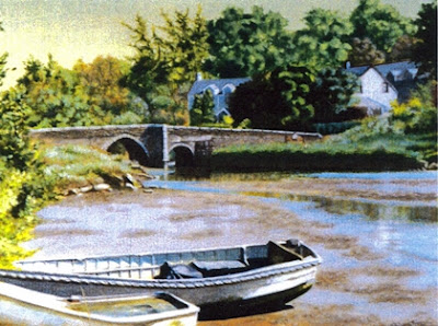 Painting of Lerryn, Cornwall
