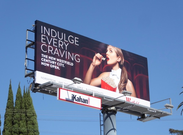 Westfield Indulge craving Shoe popcorn billboard