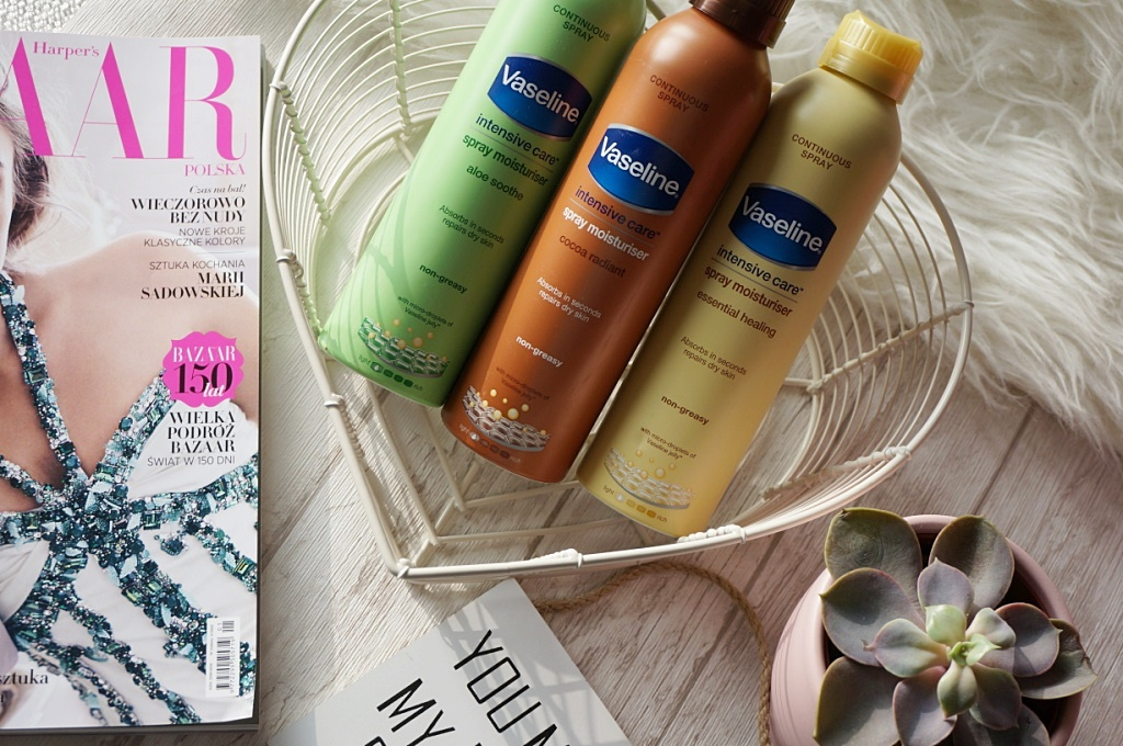 Vaseline Spray&Go - balsamy w sprayu, czyli szybka pielęgnacja ciała