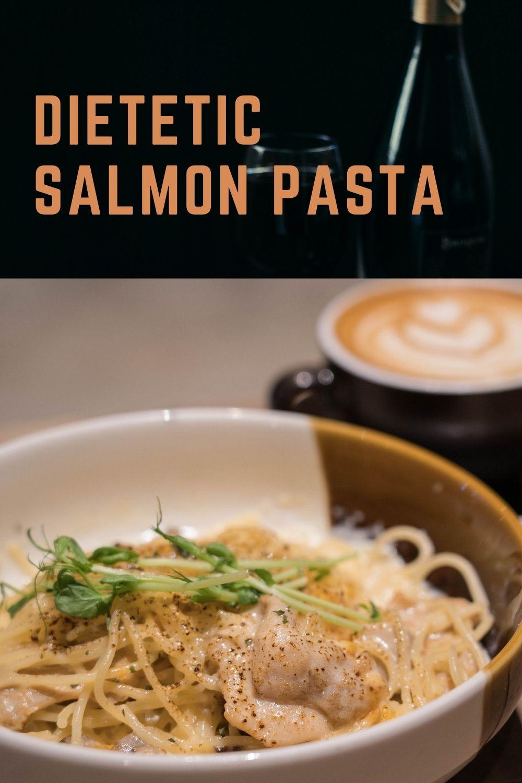 Dietetic salmon pasta