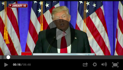 Screenshot of President Donald J. Trump speaking at January 10th press conference about the pharmaceutical industry.