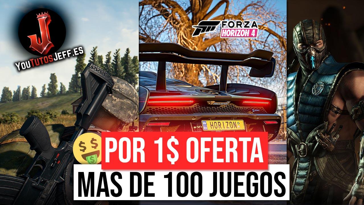 Forza Horizon 4 por 1$ (PUBG, Gears of War 4, Rocket league, Mortal Kombat X y Muchos Mas) Windows 10 y Xbox One
