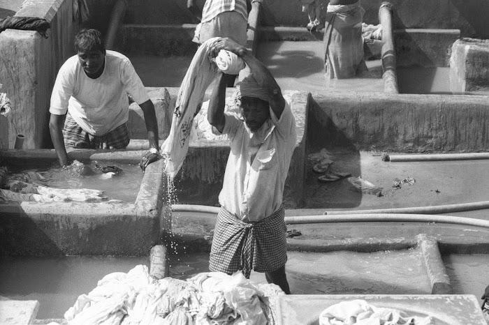 Mumbai, blanchisseurs, Dhobi, Malabar Hill, © L. Gigout, 1991