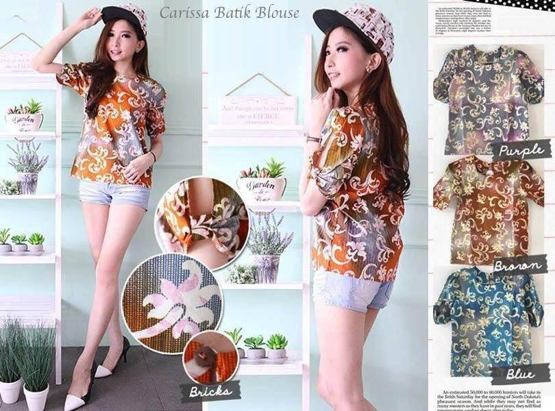 Jual Baju Batik Carissa Batik Blouse - 12602
