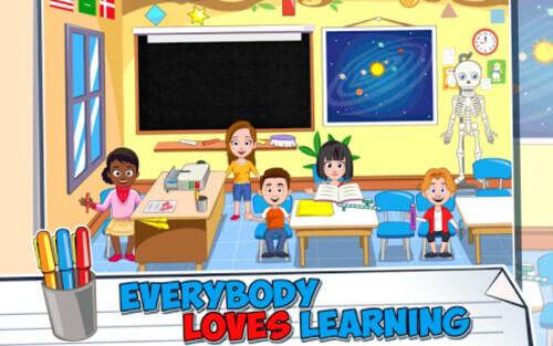 تنزيل لعبة ماي تاون المدرسة الأطفال للاندرويد : My Town : School 2020 | رابط مباشر-APK