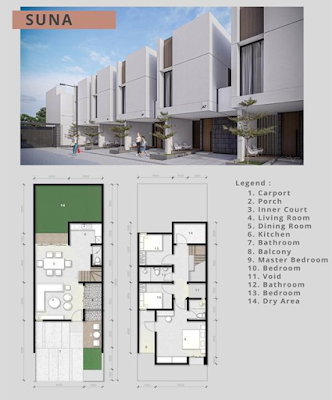 Floor Plan Tipe Suna Rumah Murah Baru Di Medan Promo DISKON 100 Juta dan Free Biaya Akad (AJB, Pajak, Balik Nama) - AT HOME