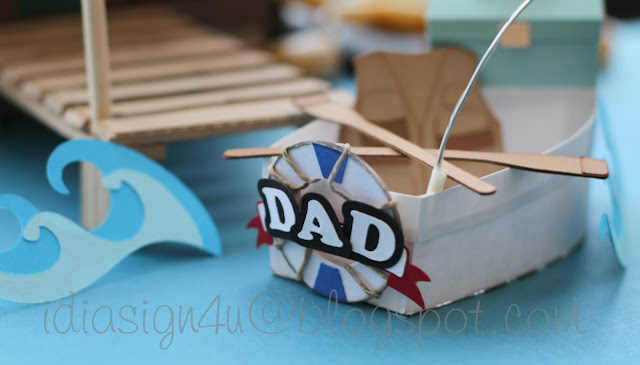 3D Paper Log Cabin and Boat Treat Boxes | Father's Day SVGCuts by ilovedoingallthingscrafty.com Challenge Entry | Dad's Cabin