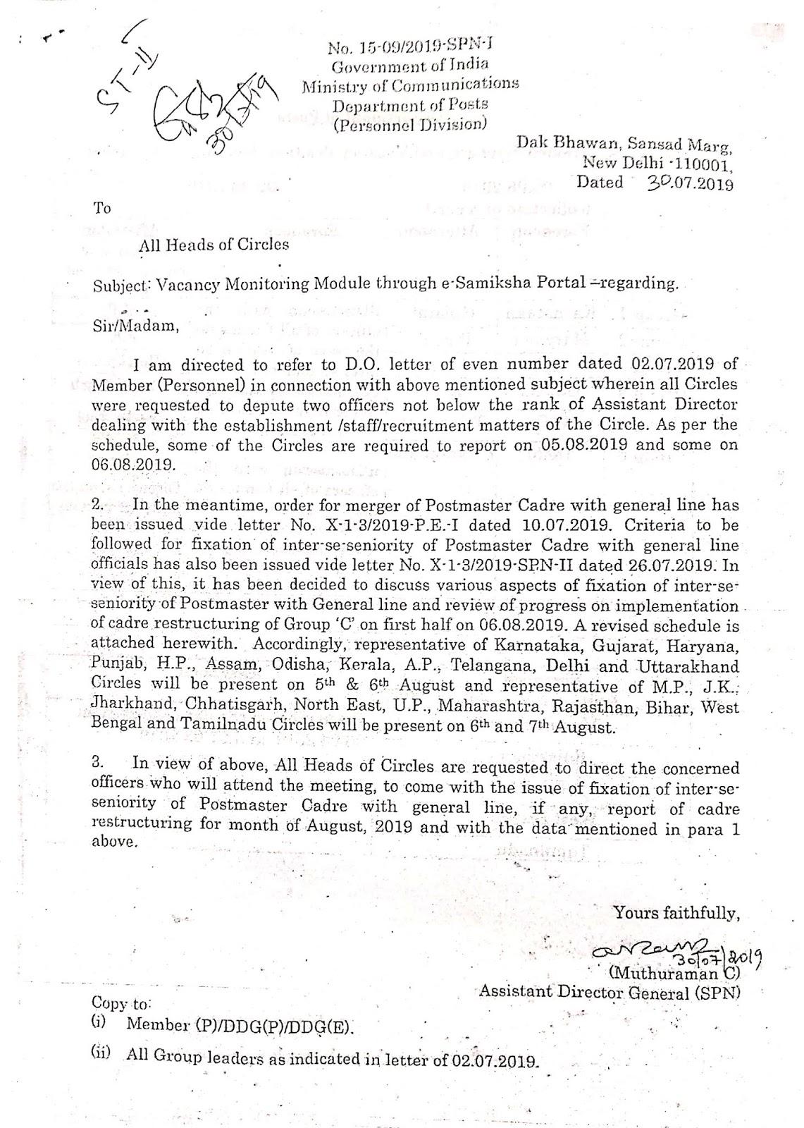 All India Association of Inspectors & Asst  Supdt  Posts