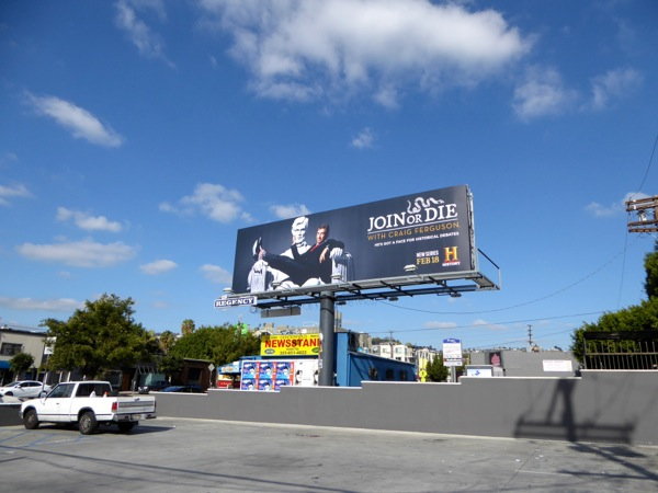 Join or Die season 1 billboard