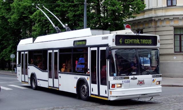 Ганц-МАЗ 103Т в Риге на маршруте №4