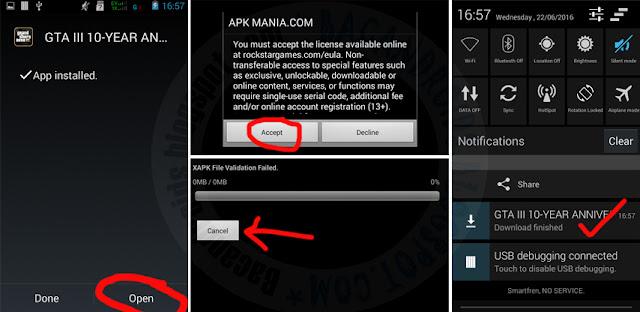 GTA 3 Lite Versi Rip Compress Apk Data untuk hp android