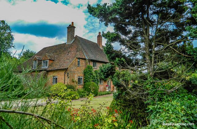 Casas típicas do Sul da Inglaterra, em Chawton, vila onde viveu Jane Austen