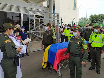 hoyennoticia.com, Despedida al Intendente de la Policía asesinado en el sur del Cesar