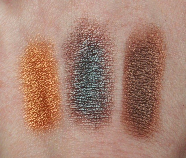 mac eyeshadows club mulch amber lights swatches review