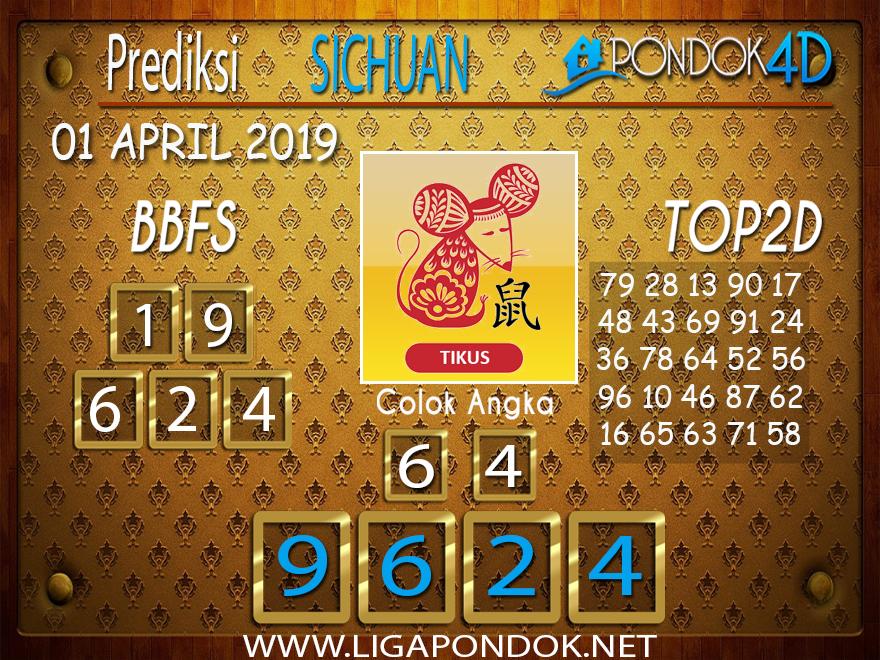 Prediksi Togel SICHUAN PONDOK4D 01 APRIL 2019