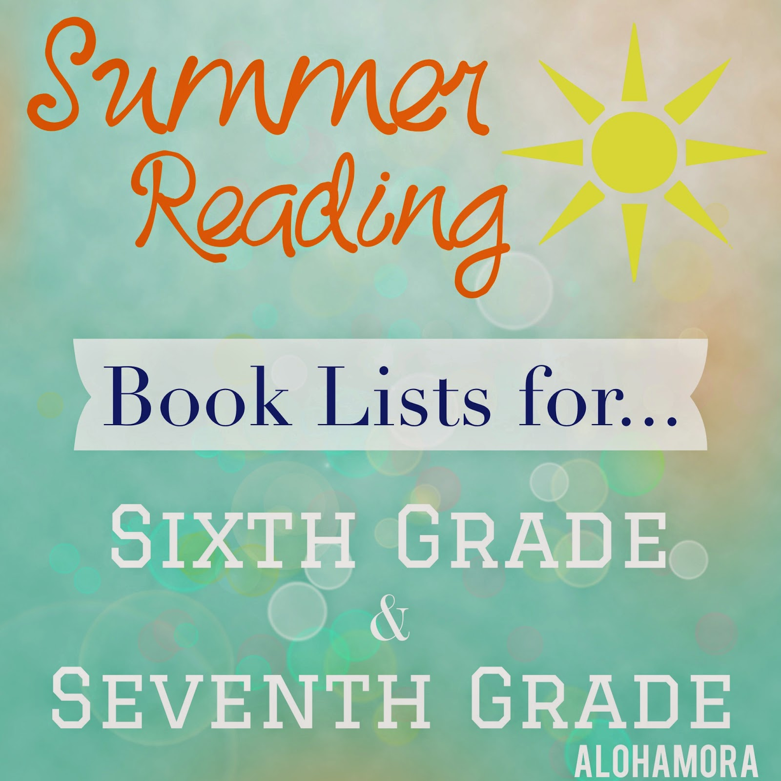 Alohamora Open A Book Summer Reading For Sixth 6th And
