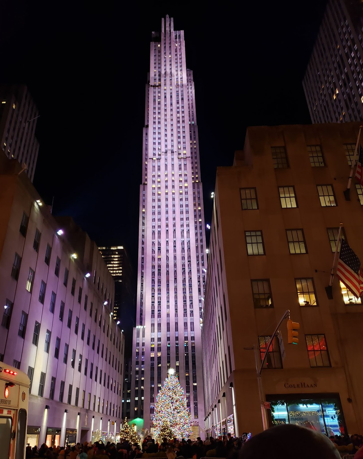 30 Rockefeller Plaza on Christmas
