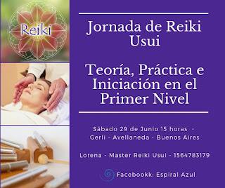 Invitacion Reiki primer nivel 29 de junio 2019