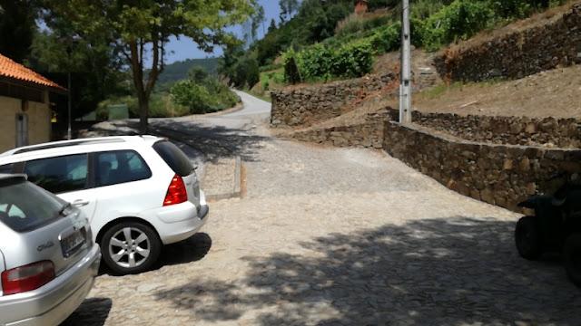 Entrada Parque de Estacionamento Praia de Fornelos