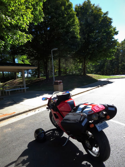 Ducati at rest stop in North Carolina