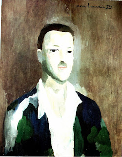 W. Somerset Maugham, portrait by Marie Laurencin in Purely For My Pleasures