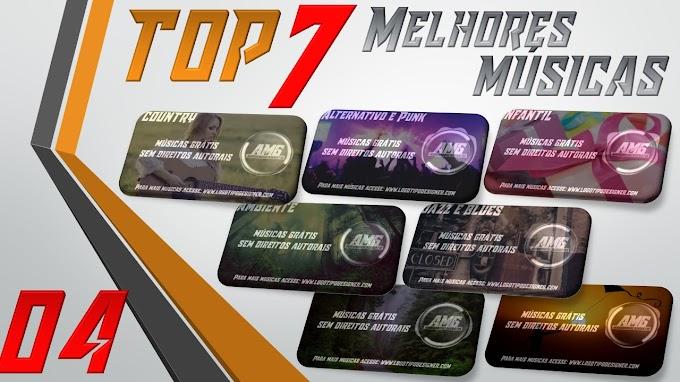 As 7 Melhores Músicas #04 Grátis free use Logo Tipo Designer