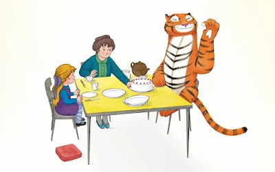 Tiger eating