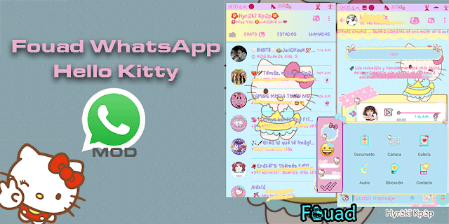 Download Fouad WHatsapp Mod Hello Kitty Apk Terbaru