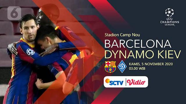 Liga Champiuons Grup G Barcelona Menjamu Dynamo Kiev Statistik Barcelona Lebih Unggul