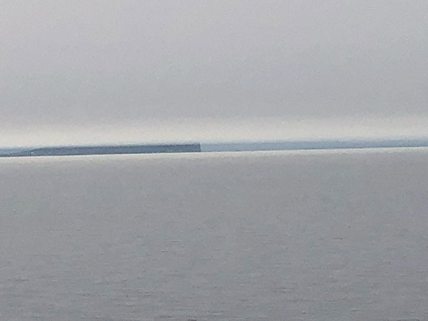 Is this cell phone image of the horizon, a Fata Morgana illusion? (Source: Palmia Observatory)