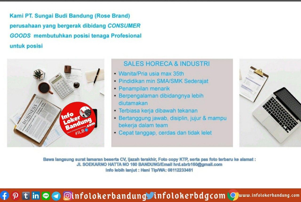 Lowongan Kerja PT. Sungai Budi Bandung (Rose Brand) Juli 2020