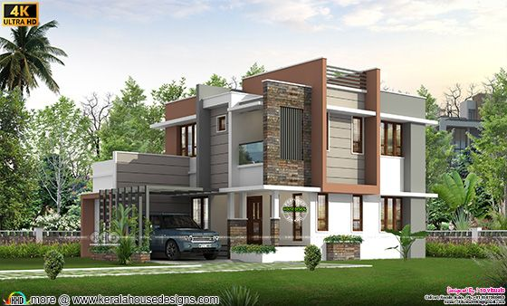 5 BHK contemporary house rendering