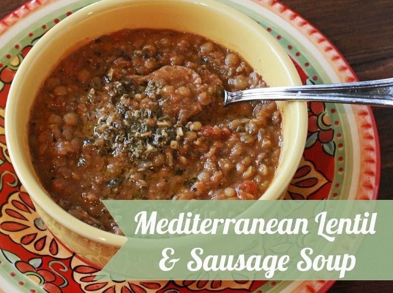 PaperDaisyKitchen: Mediterranean Lentil And Sausage Soup