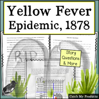 Teach about yellow fever with history fiction passage about yellow fever. #TpT #teachersfollowteachers #iteach