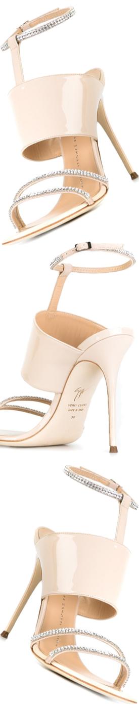GIUSEPPE ZANOTTI DESIGN T-strap Sandals in Nude
