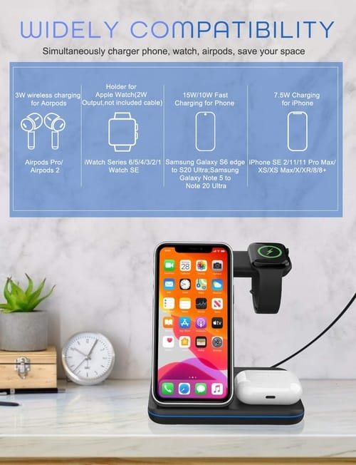 Innens Z5NQi 15W Wireless Fast Charging Station