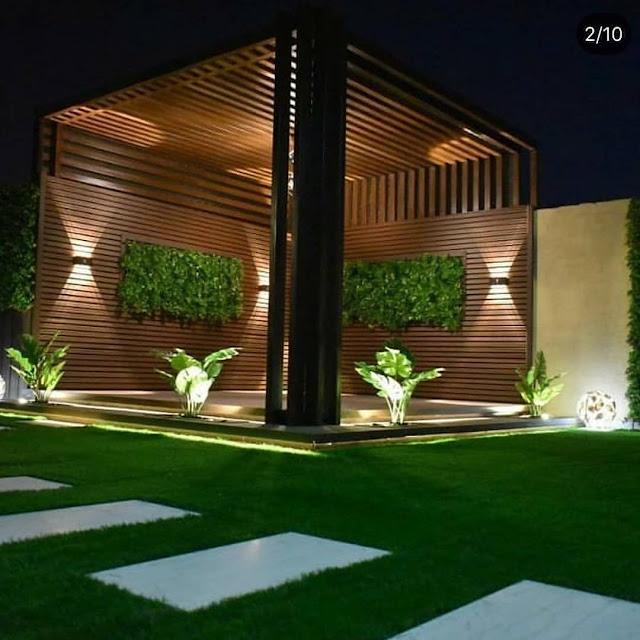 تصميم حديقة منزلية في الرياض وتزيينها بأجمل الزهور والعشب الصناعي
