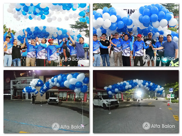pelepasan balon gas Kegiatan Car Free Day di hollyword junction  Jababeka Residence