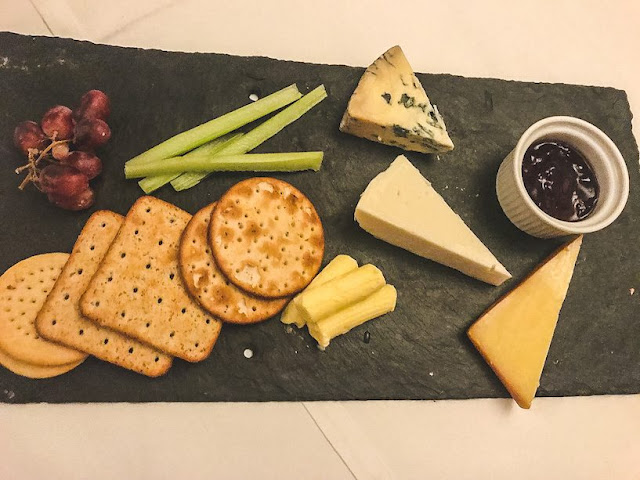 Dunsley Hall Country hotel restaurant cheese board