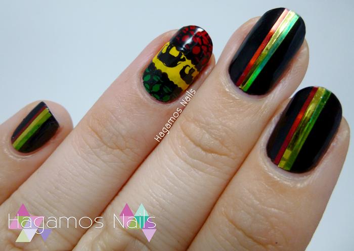 Hagamos Nails: Nail Art Elefantes Africanos Stamping