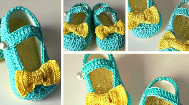 Tutorial #190: Cómo tejer balerinas a crochet para bebé de 3 a 6 meses