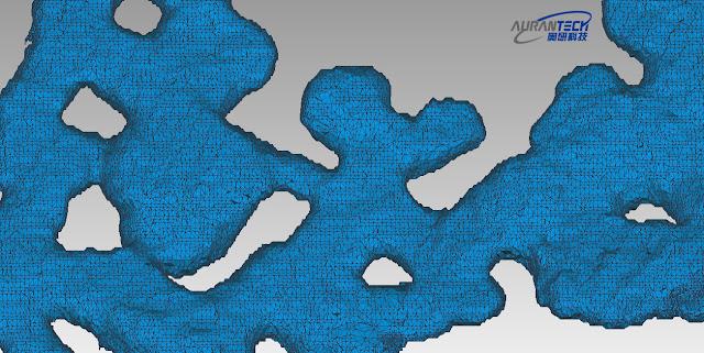 Aurantech - HERON 3D mesh model of the underground mine