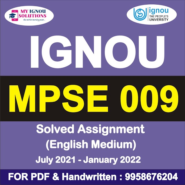 MPSE 009 Solved Assignment 2021-22