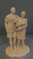 scultura soprammobile personalizzato statuine da colorare famiglia orme magiche