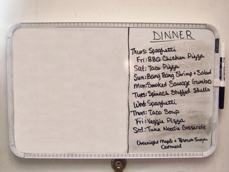 How to Menu Plan board