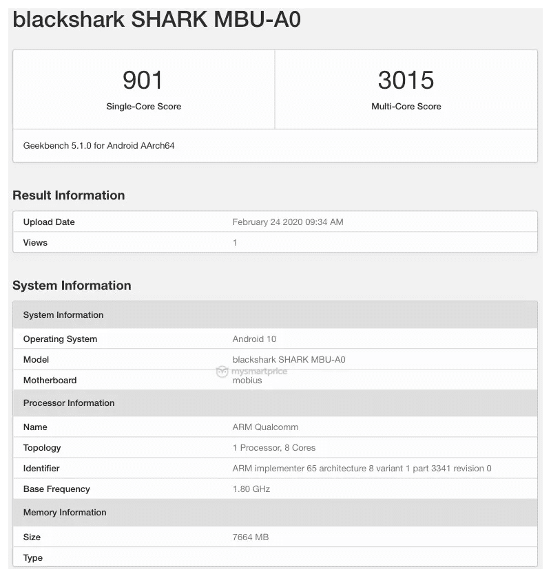 MySmartPrice reported that the model number is the Black Shark 3 Pro 5G from GeekBench