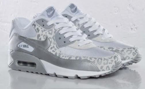 newest 1caf6 6e1ce Nike Dam Air Max 90 leopard tryck vit silver