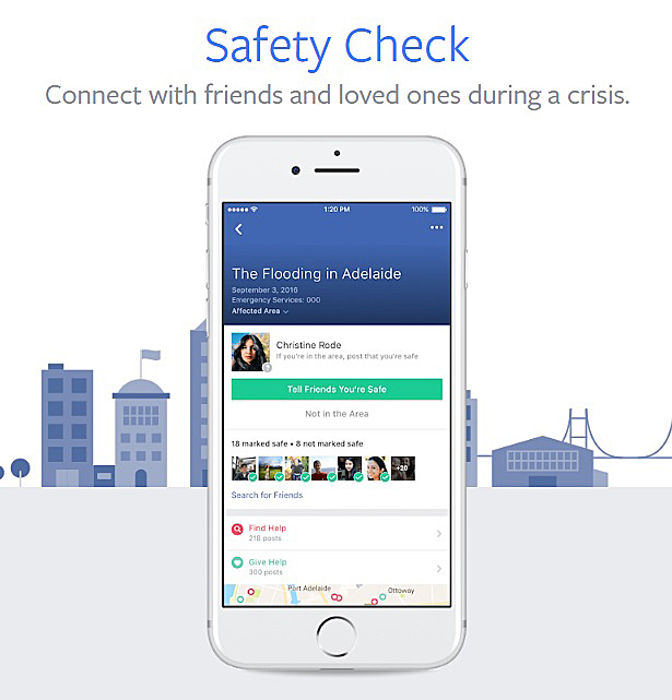 Connect with friends and loved ones during a crisis using Facebook Safety Checks