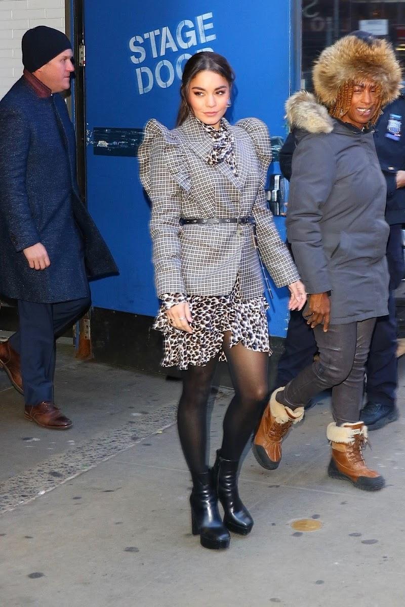 Vanessa Hudgens Leaves Good Morning America in New York 17 Jan-2020