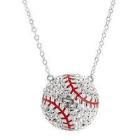 Crystaluxe Baseball Necklace with Swarovski Crystals